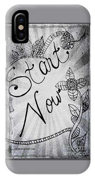 Start Now IPhone Case
