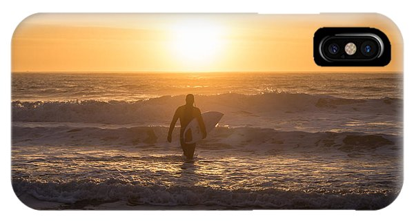 Start The Day Surfing IPhone Case