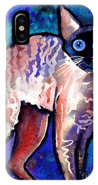 Startled Cornish Rex Cat IPhone Case