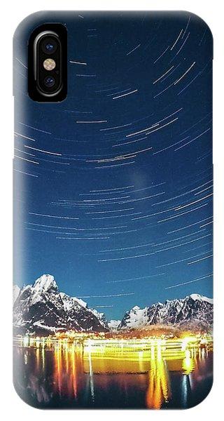 Startrails Above Reine IPhone Case