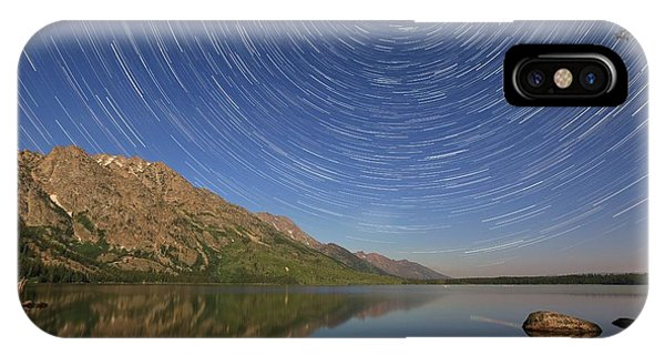Startrails Over Jenny Lake IPhone Case