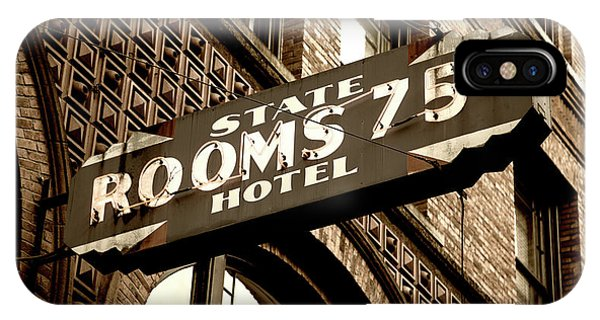 Downtown Seattle iPhone Case - State Hotel - Seattle by Stephen Stookey