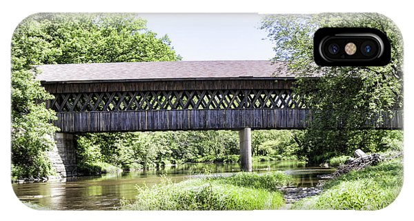 Kingsville iPhone Case - State Road Covered Bridge No.2 by Phyllis Taylor