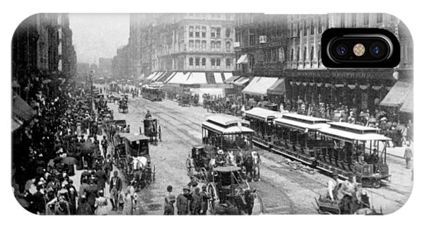 State Street - Chicago Illinois - C 1893 IPhone Case