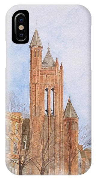 IPhone Case featuring the painting State Street Church by Dominic White