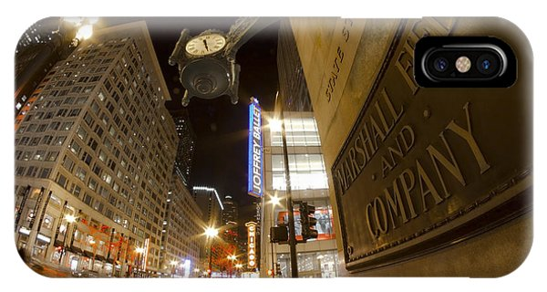 State Street Night Scene IPhone Case