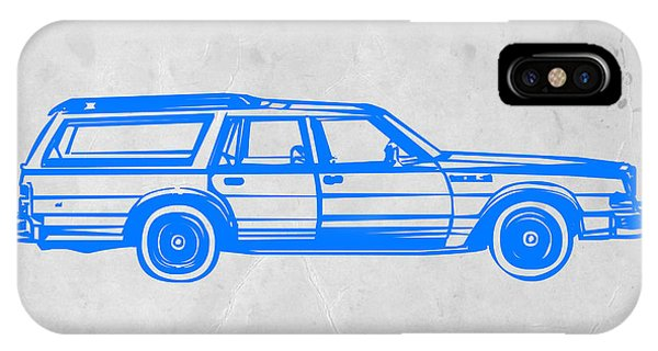 Car iPhone X Case - Station Wagon by Naxart Studio