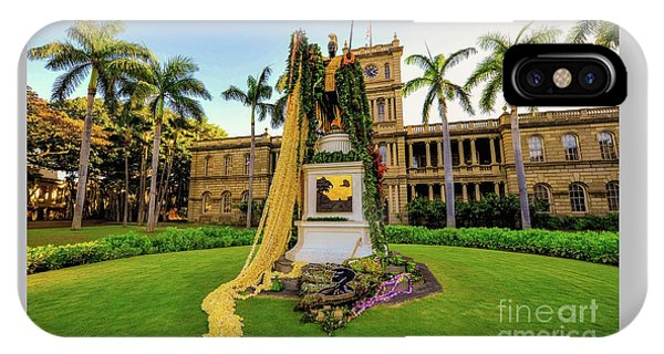 Statue Of, King Kamehameha The Great IPhone Case