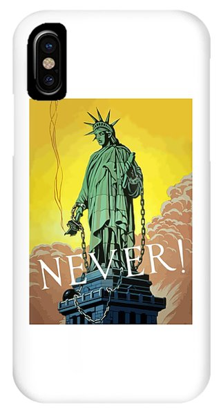 Statue Of Liberty In Chains -- Never IPhone Case