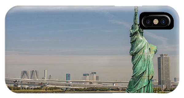 Odaiba iPhone Case - Statue Of Liberty In Tokyo by Patricia Hofmeester