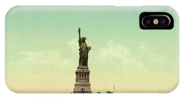 Statue Of Liberty iPhone Case - Statue Of Liberty, New York Harbor by Unknown