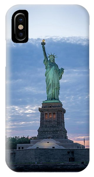 Statue Of Liberty - Sunset IPhone Case