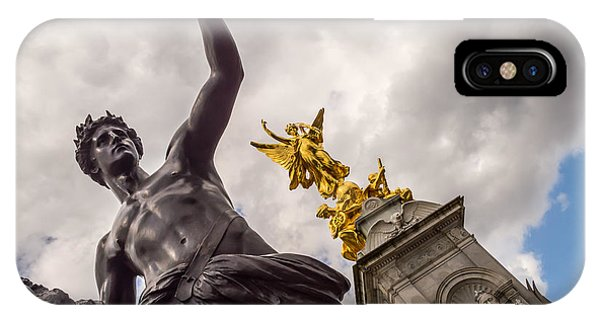 Statues In Front Of Buckingham Palace IPhone Case