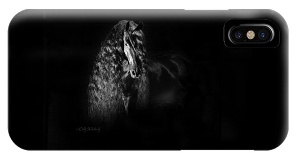 Statuesque Black Beauty IPhone Case
