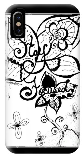 IPhone Case featuring the drawing Stay Focused by Rachel Maynard