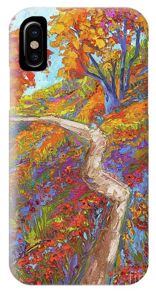 IPhone Case featuring the painting Stay On The Path - Modern Impressionist, Landscape Painting, Oil Palette Knife by Patricia Awapara