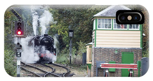 Steam Engine Approaching Alton IPhone Case