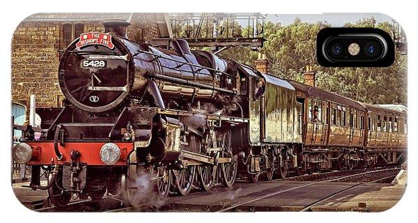 Steam Loco On Yorkshire Railway IPhone Case