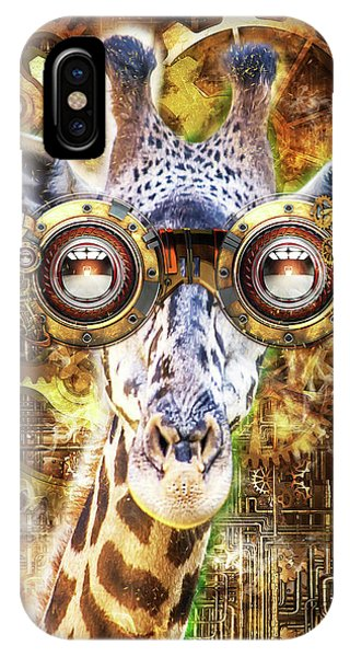 Steam Punk Giraffe IPhone Case
