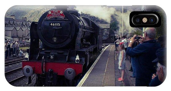 Steam Train, Ffestiniog, North Wales IPhone Case