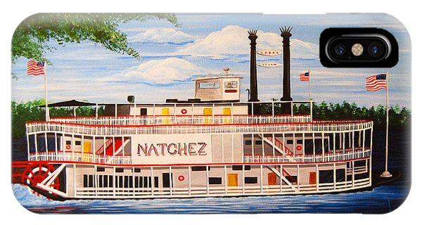 Steamboat On The Mississippi IPhone Case