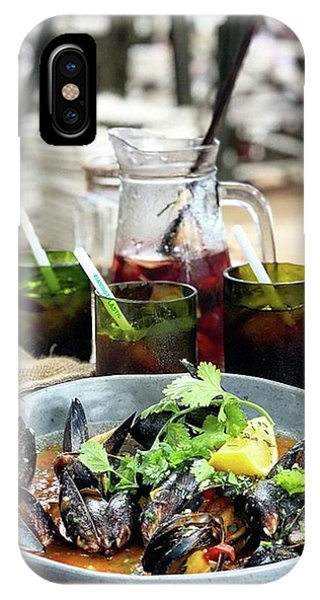 Steamed Black Mussells And Paradise Phone Case by Arya Swadharma