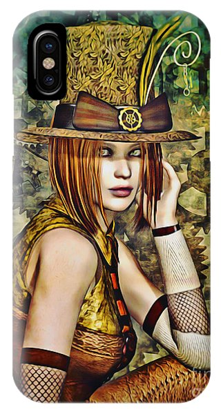 Steampunk Girl Two IPhone Case