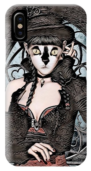 Steampunk Kitty By Artful Oasis IPhone Case