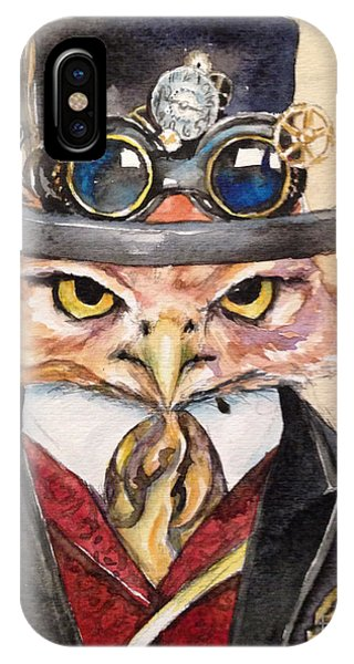 Steampunk Owl Mayor IPhone Case