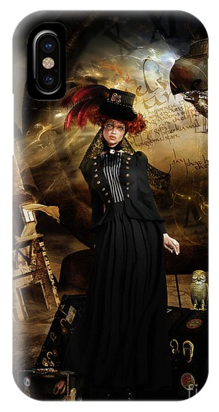 iPhone Case - Steampunk Time Traveler by Shanina Conway