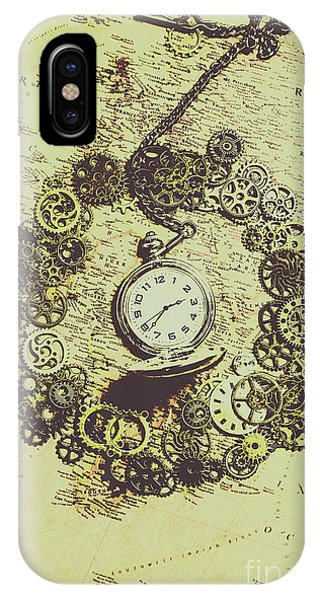 Navigation iPhone Case - Steampunk Travel Map by Jorgo Photography - Wall Art Gallery