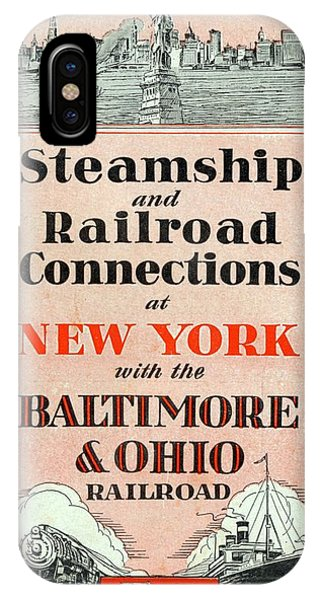 Steamship And Railroad Connections At New York IPhone Case