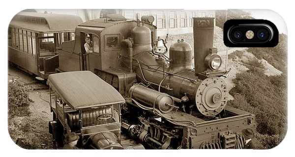 Stean Engine No. 8 Mount Tamalpais Circa 1920 IPhone Case