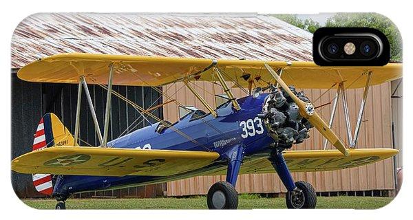 Stearman And Old Hangar IPhone Case
