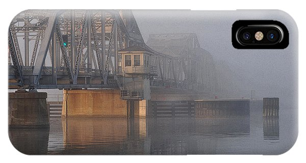 Steel Bridge In Fog IPhone Case
