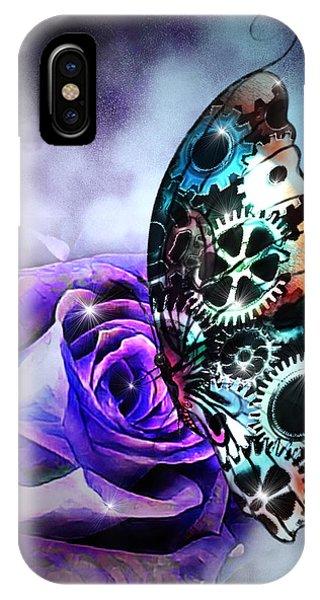 Steel Butterfly IPhone Case