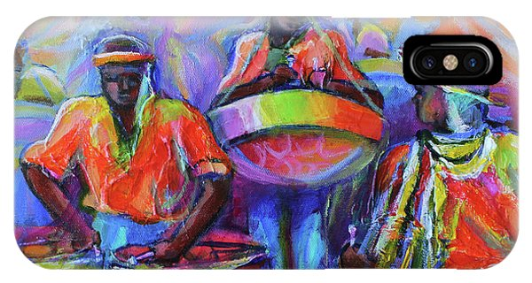 Yard iPhone Case - Steel Pan Carnival by Cynthia McLean