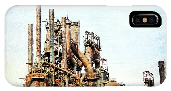 Steel Stack Blast Furnaces IPhone Case