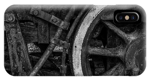 Steel Wheels In Monochrome IPhone Case