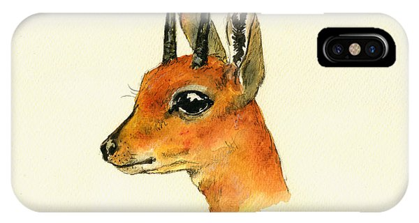 Wild Life iPhone Case - Steenbok by Juan  Bosco