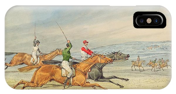 1851 iPhone X Case - Steeplechasing by Henry Thomas Alken