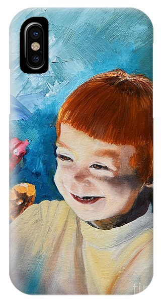 Stefi- My Trip To Holland - Red Headed Angel IPhone Case