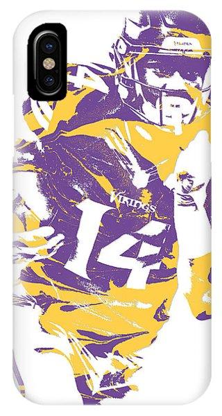 Ball iPhone Case - Stefon Diggs Minnesota Vikings Pixel Art 2 by Joe Hamilton