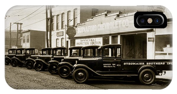 Stegmaier Brothers Inc Beer Trucks At 693 Hazle Ave Wilkes Barre Pa 1930s IPhone Case