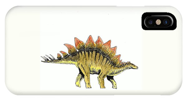 Dinosaur iPhone Case - Stegosaurus by Michael Vigliotti