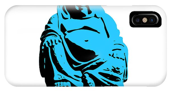 Buddhism iPhone Case - Stencil Buddha by Pixel Chimp