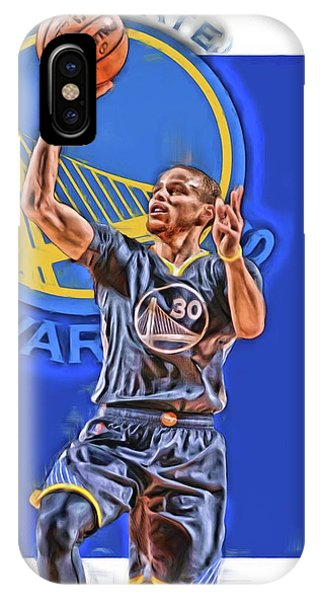 Tickets iPhone Case - Stephen Curry Golden State Warriors Oil Art 2 by Joe Hamilton