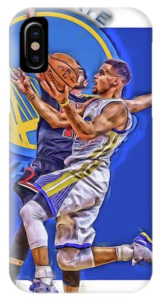 Ball iPhone Case - Stephen Curry Golden State Warriors Oil Art by Joe Hamilton