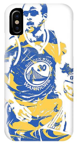 Tickets iPhone Case - Stephen Curry Golden State Warriors Pixel Art 21 by Joe Hamilton