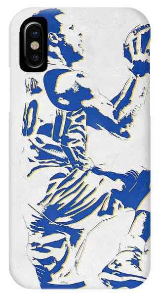 Tickets iPhone Case - Stephen Curry Golden State Warriors Pixel Art by Joe Hamilton